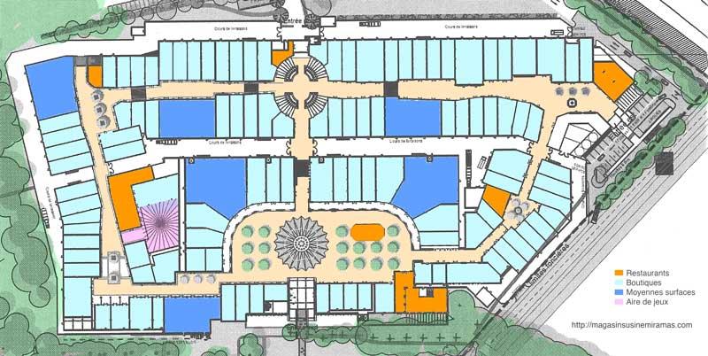 Le plan d voil du village de marques de miramas - Centre commercial les portes de chevreuse ...